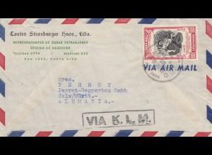Costa Rica: 1952: San Jose via KLM to Calw/Germany