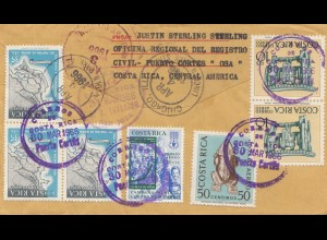 Costa Rica: Registered 1966 Puerta Cortes to Chicago