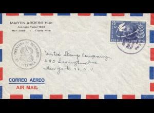 Costa Rica: 1950: San Jose Embajada de Honduras to New York