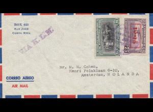 Costa Rica: 1954: San Jose to Amsterdam via KLM