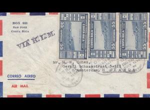 Costa Rica: 1951: San Jose via KLM to Amsterdam