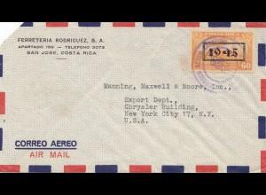 Costa Rica: 1945: San Jose to New York