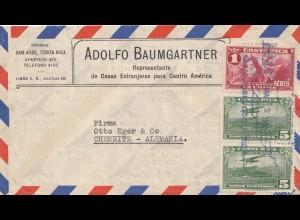 Costa Rica: letter San Jose to Chemnitz/Germany