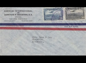 Costa Rica: 1939: San Jose to Chemnitz