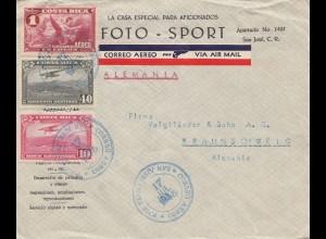 Costa Rica: 1935: San Jose to Braunschweig