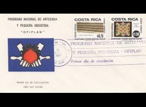 Costa Rica: 1977: FDC Ofiplan San Jose