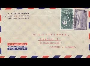 Costa Rica: air mail San Jose to Köln