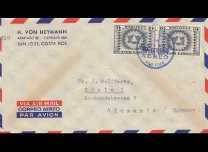 Costa Rica: 1955: San Jose to Köln in Germany