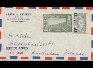 Costa Rica: air mail San Jose to Amsterdam