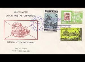 Costa Rica: 1976: FDC Emision Conmemorativa