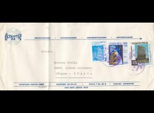Costa Rica: 1983: San Jose to Bergamo-Italia