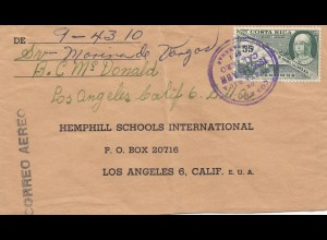 Costa Rica: 1955: Aero San Jose to Los Angeles