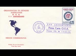 Costa Rica: 1973: San Jose FDC Oranizacion de Estados Americanos