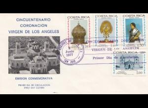 Costa Rica: 1977: FDC Virgen de Los Angeles
