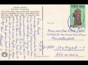 Costa Rica: 1976: Post card Hotel Irazu-San Jose