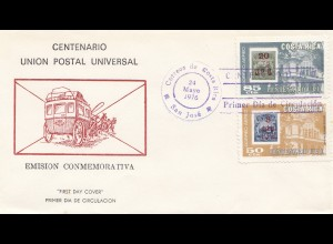 Costa Rica: 1976: FDC Union Postal Universal