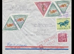 Costa Rica: 1963: Registered San Jose to München