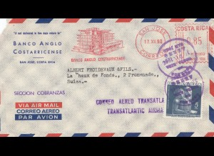 Costa Rica: 1960: San Jose to Switzerland - Aero Transatlantic