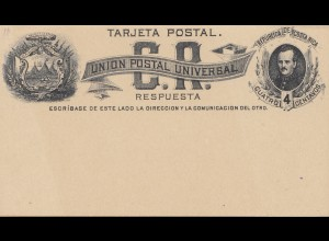 Costa Rica: post card unused - Union Postal Universal