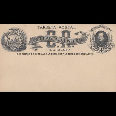 Costa Rica: 2x post card Union Postal Universal