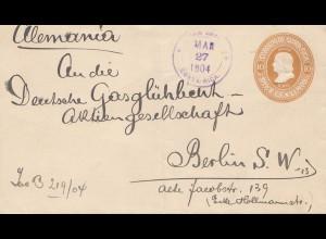 Costa Rica: 1904: San Jose to Berlin - Gasglühlicht