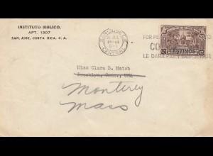 Costa Rica: 1942: San Jose to Broocklyn