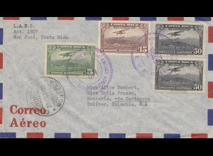 Costa Rica: 1938: San Jose to Bolivar/Colombia