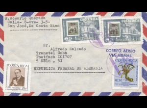 Costa Rica: 1977 San Jose to Köln Transtel GmbH