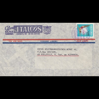 Costa Rica: 1970: San Jose to Bielefeld - Olympia Stamp