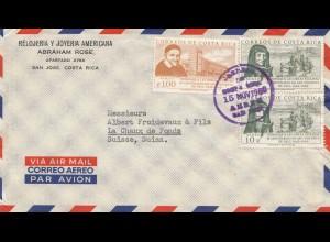 Costa Rica: 1960: San Jose to La Chaux de Fonds