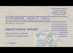 Costa Rica: 19xx Business Reply Mail to Chicago