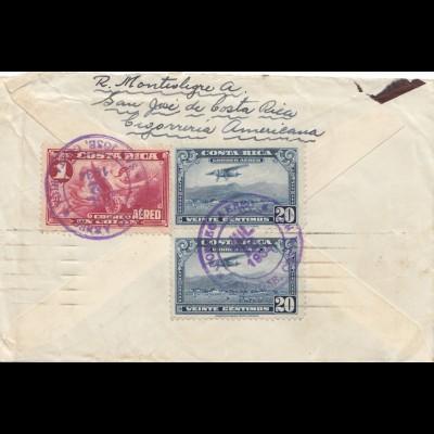 Costa Rica: 1934: San Jose to Paris