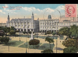 1924: post card Central Park to Dresden