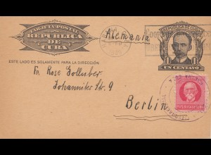 4.10.1939: post card Havana to Berlin, Kriegsanfang