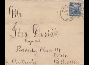 1903: letter to Pilsen/Böhmen