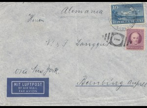 1939: Air Mail to Bernburg/Germany