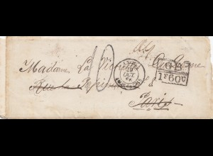 1867: small letter Havana to Paris, incl. french letter