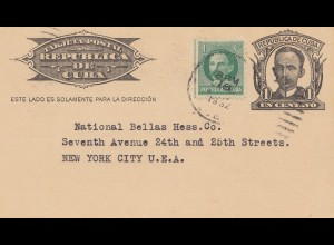 1932: post card to New York City