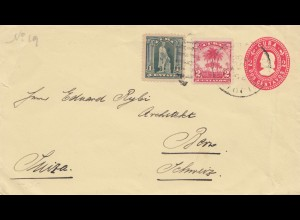 1908: letter to Bern/Switzerland