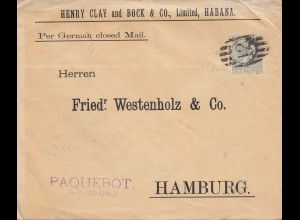 1897: Habana per German closed Mail - to Hamburg - Paquebot