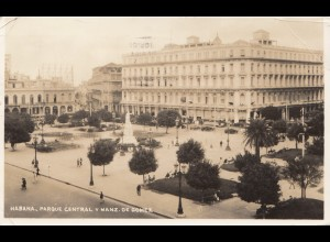 1937: Post card parque central to Oberschlema- Haus Rheingold
