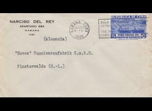 1936: letter Habana to Finsterwalde - Gummifabrik Hevea