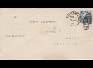 1908: letter to Leipzig