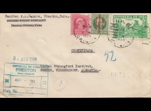 1934: registered letter Preston to Berlin