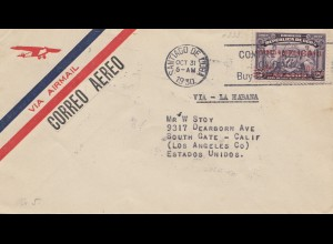 1930: Santiago to Los Angeles via air mail, Servicio Aero National