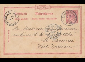 Dansk-Vestindien: 1894: Lokstedt Germany to St. Thomas