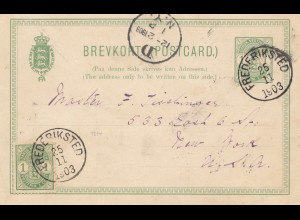 Dansk-Vestindien: 1903: post card Frederiksted to New York