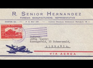 Domenikanische Republik 1952: Ciudad Trujillo to Germany-Black forest