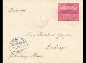 Domenikanische Republik: 10.03.1909: post card to Dieburg/Germany