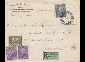 Ecuador: 1921 Registered to Berlin